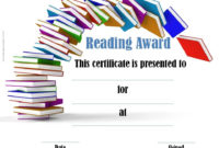 Reading Certificate Templates | Reading Certificates pertaining to Unique Reader Award Certificate Templates