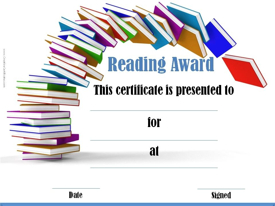 Reading Certificate Templates | Reading Certificates Throughout Best Summer Reading Certificate Printable