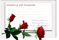 Red-Rose-Wedding-Gift-Certificate-Template | Wedding Gift with regard to Wedding Gift Certificate Template