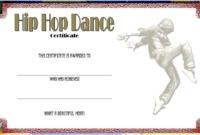 Remarkable Hip Hop Dance Certificate Template Free In 2020 in Fresh Hip Hop Certificate Templates