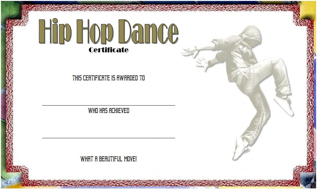 Remarkable Hip Hop Dance Certificate Template Free In 2020 throughout Fresh Hip Hop Dance Certificate Templates