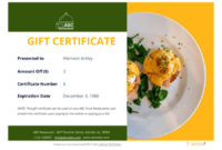 Restaurant Gift Certificate Template – Pdf Templates | Jotform with Best Restaurant Gift Certificates Printable