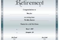 Retirement Certificate Printable Certificate in Fresh Retirement Certificate Templates