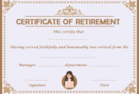 Retirement Certificate Template Archives – Page 2 Of 3 for Retirement Certificate Templates