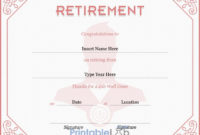 Retirement Certificate Template In Eunry, Your Pink And within Retirement Certificate Templates