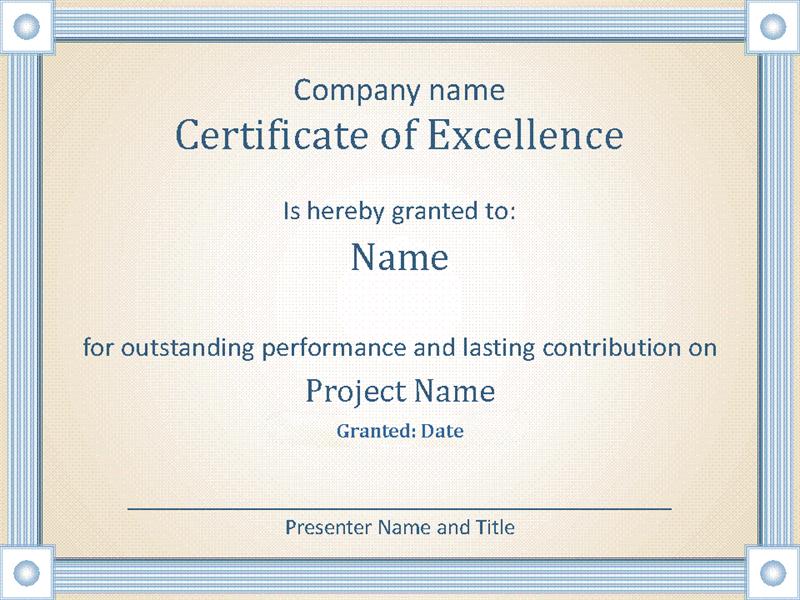 Reward An Employee'S Outstanding Performance With This with regard to Outstanding Performance Certificate Template