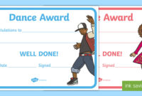 Reward Certificates Dance Award Certificate (Teacher Made) regarding Dance Award Certificate Templates