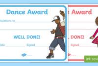 Reward Certificates Dance Award Certificate (Teacher Made) with regard to Best Dance Award Certificate Template