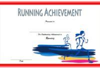 Running Achievement Certificate Template Free 1 In 2020 intended for Finisher Certificate Template 7 Completion Ideas