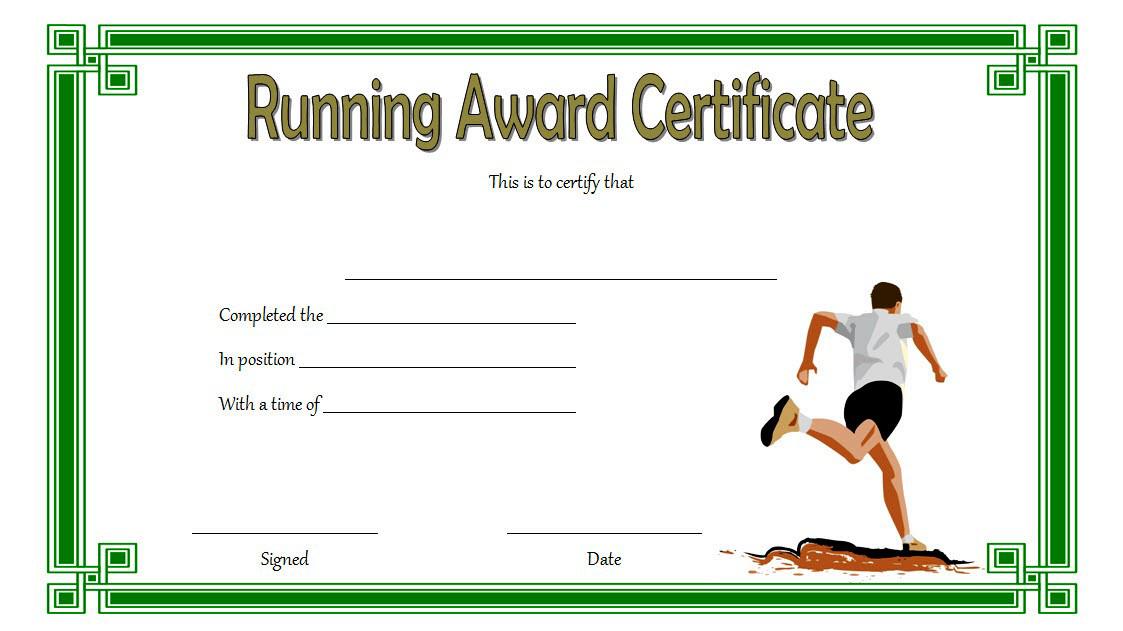 Running Achievement Certificate Template Free 4 In 2020 Regarding Best Editable Running Certificate
