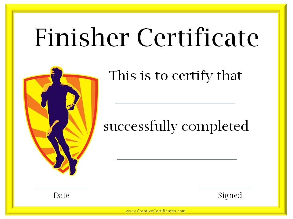 Running Awards | Certificate Templates, Online Education For Running Certificate Templates