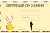 Running Certificate Free Printable 1 In 2020 | Certificate throughout Fresh Finisher Certificate Template 7 Completion Ideas