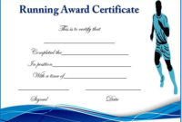 Running Certificate Templates : 20+ Free Editable Word regarding Best Running Certificate Templates 10 Fun Sports Designs