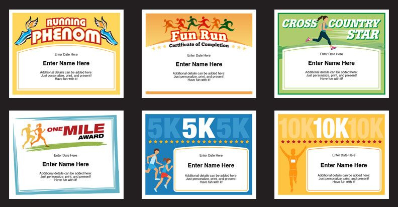 Running Certificates Templates | Runner Awards Cross Country For Fresh 5K Race Certificate Template 7 Extraordinary Ideas