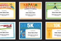 Running Certificates Templates | Runner Awards Cross Country in Unique 5K Race Certificate Template