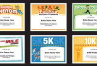 Running Certificates Templates | Runner Awards Cross Country with Unique Running Certificate Templates