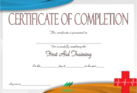 Safety Training Certificate Template 2020 Free Download with First Aid Certificate Template Free