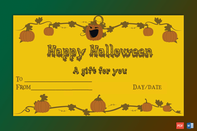Sample Of Halloween Gift Certificate Petrify | Certificate Regarding Halloween Gift Certificate Template Free