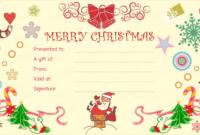 Santaclaus Gift Giving Christmas Gift Certificate In 2020 with regard to Christmas Gift Certificate Template Free