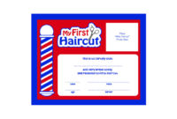 Scalpmaster My First Haircut Certificate, (1 Dozen) with regard to First Haircut Certificate