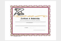 Scholarship Certificate Template – 7+ (Free Editable For regarding Scholarship Certificate Template