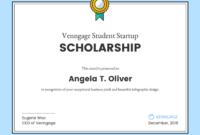 Scholarship Certificate throughout Scholarship Certificate Template