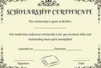 Scholarship Recipient Certificate Template | Certificate intended for 10 Scholarship Award Certificate Editable Templates