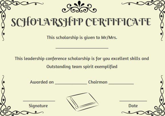 Scholarship Recipient Certificate Template | Certificate throughout Best Scholarship Certificate Template
