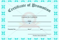 School Promotion Certificate Template | Graduation pertaining to Grade Promotion Certificate Template Printable