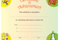 Science Achievement Certificate Printable Certificate pertaining to Best Science Achievement Certificate Templates