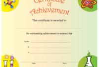 Science Achievement Certificate Printable Certificate with Best Science Achievement Award Certificate Templates