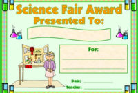 Science Award Certificates in Fresh Science Fair Certificate Templates