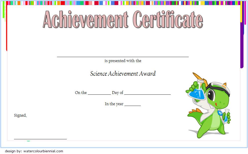 Science Certificate Of Achievement Template 1 Free In Best Science Achievement Award Certificate Templates