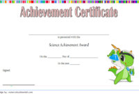 Science Certificate Of Achievement Template 1 Free with Unique Science Achievement Certificate Template Ideas