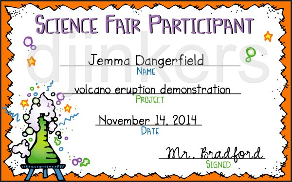 Science Fair Participant | Clipart Panda - Free Clipart Images For Science Fair Certificate Templates