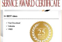 Service Certificate Template Free [11+ Top Ideas] throughout Years Of Service Certificate Template Free 11 Ideas