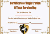Service Dog Papers Template | Service Dogs, Certificate inside Service Dog Certificate Template