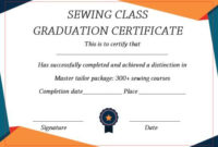 Sewing Certificate Template: 10 Templates Designed For throughout Training Completion Certificate Template 10 Ideas
