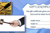 Silent Auction Gift Certificate Template | Silent Auction regarding Silent Auction Certificate Template 10 Designs 2019