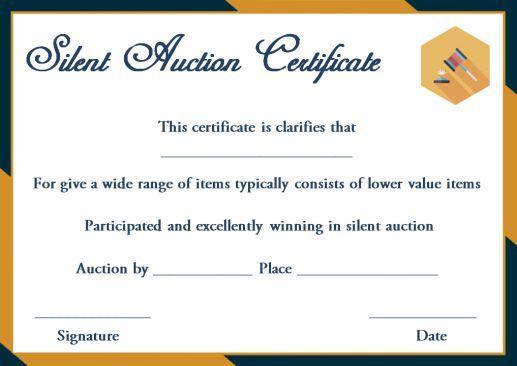 Silent Auction Winner Certificate Template: Explore Best Intended For Silent Auction Certificate Template 10 Designs 2019