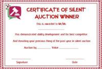 Silent Auction Winner Certificate Template: Explore Best throughout Silent Auction Certificate Template 10 Designs 2019