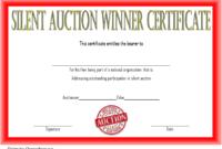 Silent Auction Winner Certificate Template Free 2 In 2020 intended for Fresh Silent Auction Certificate Template 10 Designs 2019