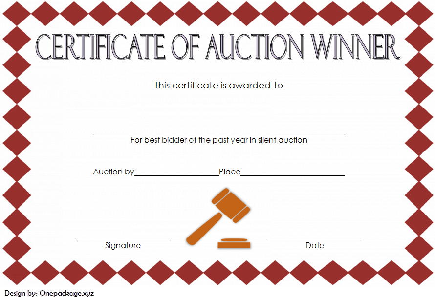 Silent Auction Winner Certificate Template Free 3 In 2020 for Silent Auction Certificate Template 10 Designs 2019