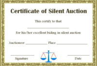 Silent Auction Winner Certificate Templates In 2020 | Silent regarding Fresh Silent Auction Certificate Template 10 Designs 2019