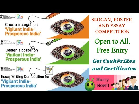 Slogan Writing, Poster Making & Essay Writing Contest On Within Essay Writing Competition Certificate 9 Designs