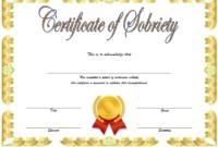 Sobriety Certificate Template Idea 7 | Certificate Templates in Certificate Of Sobriety Template Free