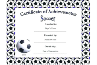 Soccer Award Certificate Template (2) – Templates Example inside Soccer Achievement Certificate Template