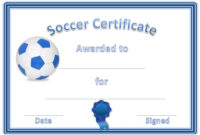 Soccer Award Certificates | Soccer Awards, Soccer, Award throughout Unique Soccer Achievement Certificate Template