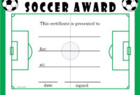 Soccer Award Certificates | Soccer Awards, Soccer Coaching pertaining to Soccer Award Certificate Template