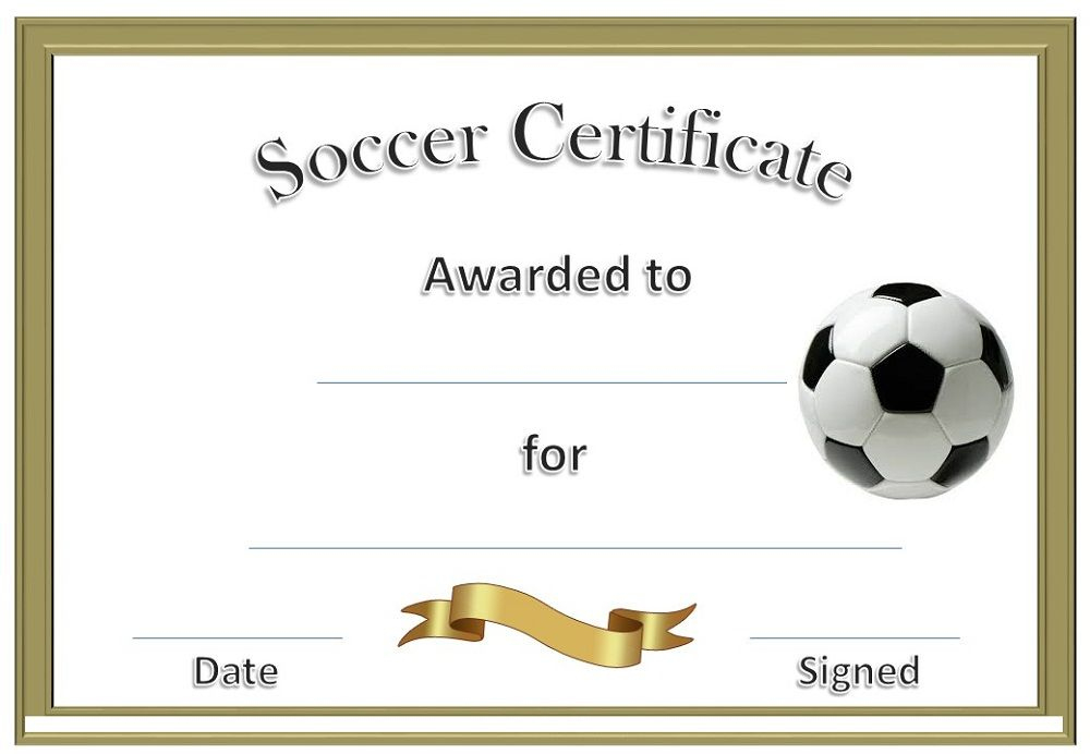 Soccer Award Certificates | Soccer Awards, Soccer with regard to Soccer Achievement Certificate Template